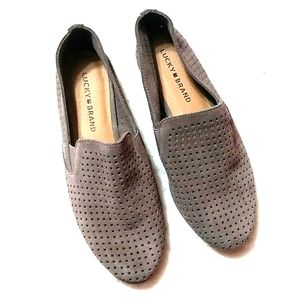 Lucky Brand Carthy Perforated Leather Loafers